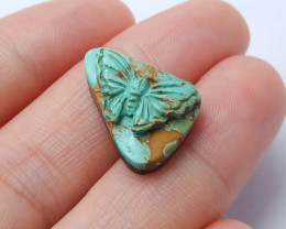 Beautiful carved flower turquoise cabochon wholesale gemstone designer A953