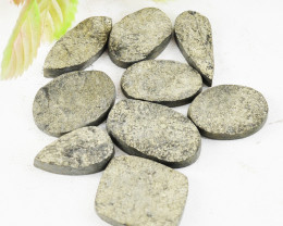 Genuine 235.00 Cts Untreated Pyrite Druzy Cabochon Lot