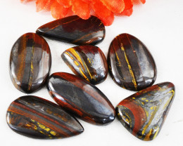 Genuine 245.00 Cts Iron Tiger Eye Untreated Cabochon Lot