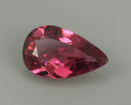 1.15 CtTremendous Pear Cut 100% Natural AA Intense Pink Tourmaline MOZAMBIQ