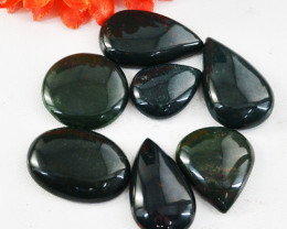 Genuine 215.00 Cts Untreated Bloodstone Cabochon Lot