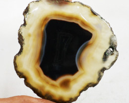 Genuine 130.00 Cts Slice Agate Untreated Cabochon