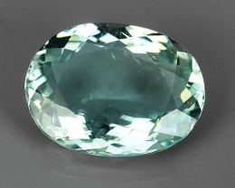 3.60 CTS~TOP FIRE ULTRA RAREST OVAL-CUT AQUAMARINE INDIA~