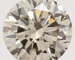 Natural Light Brownish Yellowish Pink Diamond - 0.18 ct