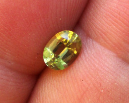 0.77cts Natural Australian Yellow Sapphire Oval Cut