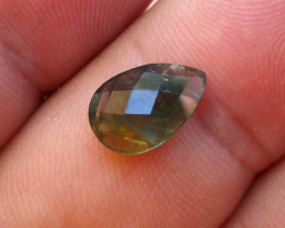2.98cts Natural Australian Blue Parti Sapphire Pear Checker Board Cut