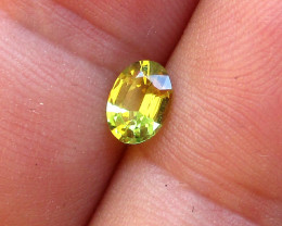 0.61cts Natural Australian Yellow Parti Sapphire Oval Cut