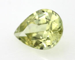 0.62cts Natural Australian Yellow Sapphire Pear Shape