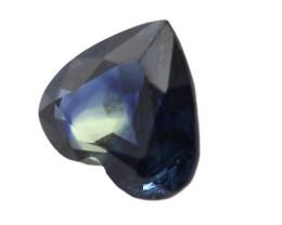 0.92cts Natural Australian Blue Sapphire Heart Shape