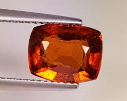 "4.31 ct  "" Collector's Gem""  Cushion Cut Top Luster Hessonite Garnet"