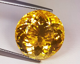 """16.79 ct """"Collective Gem"""" Beautiful Round Cut Natural Citrine"""