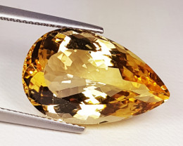 """13.27 ct """"Collective Gem"""" Lovely Pear Cut Natural Citrine"""