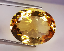 "12.33 ct ""Excellent Gem"" Wonderful Oval Cut Natural Citrine"