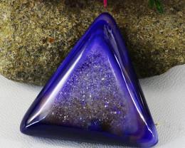 Genuine 93.00 Cts Purple Druzy Onyx Cabochon