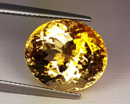 """10.53 ct """" Exclusive Gem"""" Lovely Oval Cut Natural Citrine"""