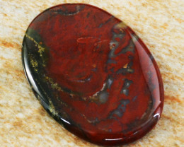 Genuine 68.00 Cts Oval Shape Bloodstone Cabochon