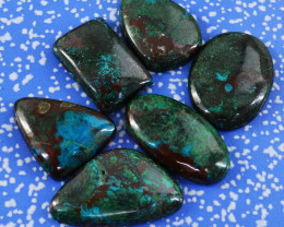 Genuine 149.00 Cts Azurite Untreated Cabochon Lot
