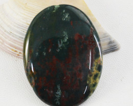 Genuine 60.00 Cts Oval Shape Bloodstone Cabochon