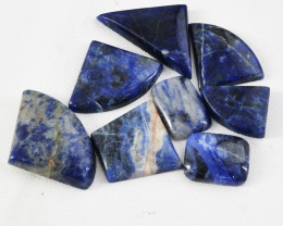 Genuine 118.00 Cts Sodalite Untreated Cabochon Lot