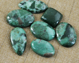 Genuine 155.00 Cts Untreated Verdite Cabochons Lot