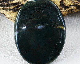 Genuine 85.00 Cts Untreated Oval Shape Bloodstone Cabochon
