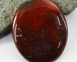 Genuine 62.00 Cts Bloodstone Oval Shape Cabochon