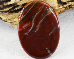 Genuine 35.00 Cts Untreated Oval Shape Red Moss Agate  Cabochon