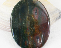 Genuine 37.00 Cts Bloodstone Oval Shape Untreated Cabochon