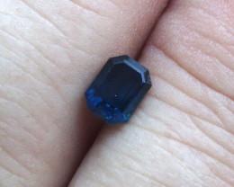 0.74cts Natural Australian Blue Sapphire Emerald Cut