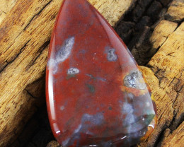 Genuine 30.00 Cts Untreated Pear Shape Bloodstone Cabochon