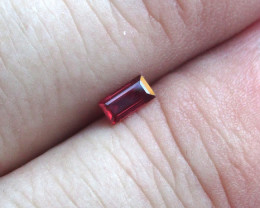 0.33cts Natural Ruby Baguette Shape