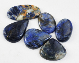 Genuine 120.00 Cts Untreated Sodalite Cabochons