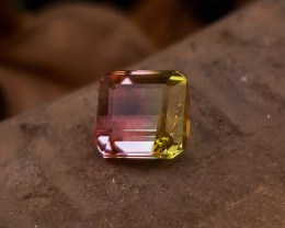 1.90 Ct Natural Bi Color Transparent Ring Size Tourmaline Gem