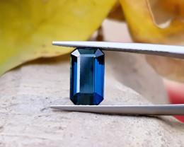 2.10 Ct Natural Dark Blue Transparent Tourmaline Gem