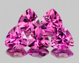 4.0 mm Trillion 5 pcs {1.10ct} Pink Tourmaline [VVS]