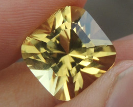 12.99cts Citrine, Certified,  Top Brilliant Cut