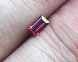 0.34cts Natural Ruby Baguette Shape