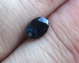 1.10cts Natural Australian Blue Sapphire Oval Shape