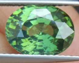 3.51cts,  Green Zircon, Eye Clean,