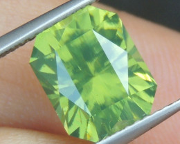 5.29cts,  Green Zircon, Eye Clean,