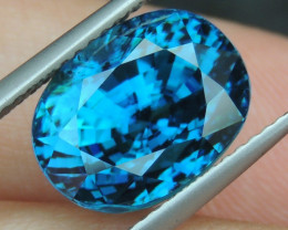 10.21cts, Blue Zircon,  Top Color