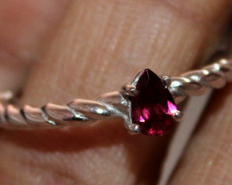 Natural Tourmaline 925 Sterling Silver Ring Size (9 US) 49