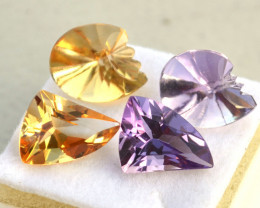 20.47 Amethyst and Citrine Fancy Cut Stones
