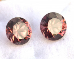 5.89 Carat Matched Pair of Top Jewelry Grade Red Zircons