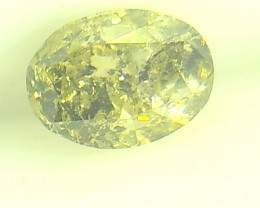 Certified 0.72ct Fancy Intense Yellow Green  Diamond , 100% Natural Untreat