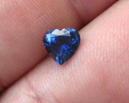 1.08cts Natural Australian Blue Sapphire Heart Cut