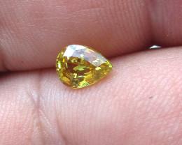 0.85cts Natural Australian Yellow Sapphire Pear Shape