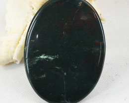 Genuine 60.00 Cts Bloodstone Oval Shape Cabochon