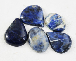 Genuine 105.00 Cts Untreated Sodalite Cabochon Lot