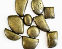 Genuine 276.00 Cts Untreated Pyrite Cabochon Lot